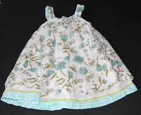 EUC Room Seven blue floral dress girls 2t 2 92