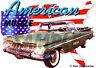 1959 Green Chevy El Camino Custom Hot Rod USA T-Shirt 59, Muscle Car Tee's
