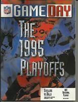 January 6, 1996 Steelers vs Bills Divisional Playoffs Gameday Program