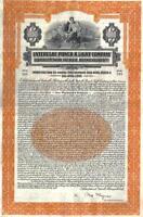 Original Germany Gold Bond 1928 Unterelbe Power Light Co $1000 coupons