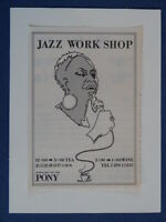 m/ handmade greetings birthday card 1970s TOKYO pony workshop ,  jazz club ad