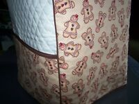 Gingerbread Men Quilted Fabric Cover for KitchenAid Mixer NEW
