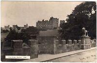 Real Photo Postcard Lion Bridge over the River Aln and Castle Alnwick 1927