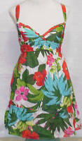 NWT Hollister Summer Halter Dress Top Floral Green Pink Orange Womens Sz S L