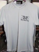 NEW WOMENS LADIES GREY L LARGE SKYSOUTH RAPID COOL DRY DRI FIT T SHIRT DISC GOLF