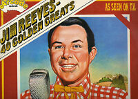 JIM REEVES    40 GOLDEN GREATS     ( TWO LP ALBUM SET IN A GATEFOLD SLEEVE  )