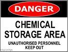 DANGER WARNING SAFETY SIGNS CHEMICALS SIGN SAFE OHS