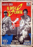 manifesto 2F originale IL DISCO VOLANTE Alberto Sordi Mangano Monica Vitti 1964
