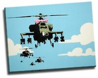 Banksy Helicopters Giclee Canvas Picture Wall Art