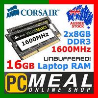 Corsair SODIMM 16GB DDR3 1600MHz RAM Laptop Notebook Memory 2 x 8GB Intel i7 i5