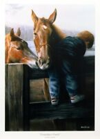 "Grandpa's Farm By Kevin Daniel Horse Boy Art Print  12.5"" x 17.5"""