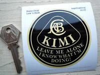 KIMI RAIKKONEN Leave Me Alone LOTUS F1 Funny 75mm Static Cling Window Sticker