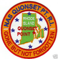 US NAVY BASE PATCH, NAS QUONSET POINT R.I.            Y