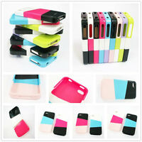 Mashup Mix and Match Color Hard Cell Phone Case Skin Cover for iPhone 4S 4G 1pc