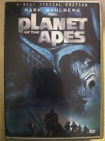 Mark Wahlberg PLANET OF THE APES ~ 2001 Sci-Fi Remake ~ R1 2-Disc American DVD