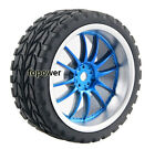 4pcs RC Flat Racing Tires Tyre Wheel Rim Fit HSP HPI 1:10 On-Road Car 9049-6017
