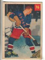 1954-55 Parkhurst Hockey Card #76 Ron Murphy New York Rangers VG/EX.