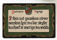 Yorkshire Sayings - Art Postcard 1910