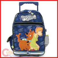 """Scooby Doo and Shaggy  School Roller Backpack Luggage Rolling Bag Large 16"""""""