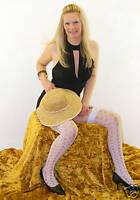 White Pot Hole Lace Stockings
