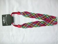 New One Multi Coloured Woven Head Band SALE