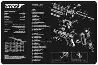 Glock Pistol Armorer Gun Cleaning Bench Mat w/Exploded View Schematic Parts List