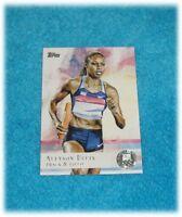 2012 TOPPS US OLYMPIC TEAM #66 ALLYSON FELIX TRACK & FIELD SILVER CARD