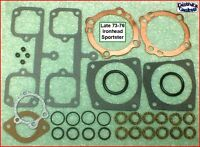 Top End Gasket Kit, Late 73-76 Ironhead Sportster 1000cc copper HG, ref.17030-73
