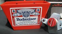 BUDWEISER Beer Bottle Cap Opener & Playing Card / Bud Red Cap Catcher Bar