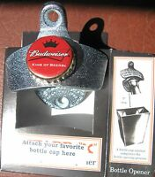Custom Bottle Opener & Budweiser Beer Bottle Cap  Bud  Sports Bar King of Beers
