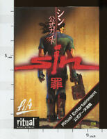 SIN Tsumi Official Game Guide Data Book Japan Japanese PC SB7447*