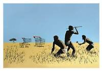 BANKSY TROLLEY HUNTERS EXTRA LARGE CANVAS PRINT A1 -Graffiti Street Poster