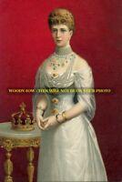 "mm576 - Queen Alexandra wife of King Edward VII  - art portrait - photo 6x4"""