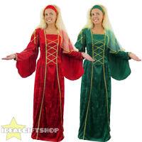 LADIES TUDOR QUEEN DRESS FANCY DRESS COSTUME MEDIEVAL PRINCESS RENAISSANCE