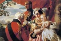 """mm606 - young Queen Victoria & Prince Consort & baby in 1851 art - photo 6x4"""""""