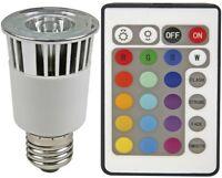 FOCO LED CREE ALTA POTENCIA 5W RGB E27 220V + MANDO EFECTOS MULTICOLOR BD3577-8