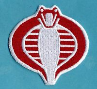 """GI Joe Stormshadow Small 3"""" [inch], Fully Embroidered Red & White Patch"""