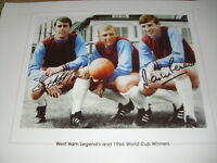 ENGLAND 1966 & WEST HAM legends,  signed 19x13 - GEOFF HURST & MARTIN PETERS