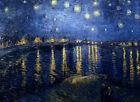 "VAN GOGH ~ Starry Night over the Rhone ~ CANVAS ART PRINT ~ 16""X 12"""