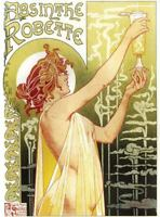 "ABSYNTH ART NOUVEAU CANVAS ART PRINT poster 16""X 12"""