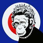 "BANKSY Queen Monkey CANVAS PRINT poster Graffiti Art 24""x 24"""