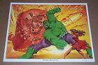 Vintage original 1980 Marvel Comics 14 by 11 Hulk comic book art poster print 1