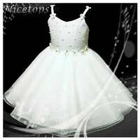 W875 Off White Wedding Party Dress Bridesmaid Flower Girls Dresses AGE 2 to 10Y