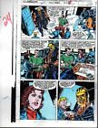Rare original 1991 Avengers 330 page 24 Marvel comic book color guide art:1990's