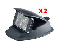 ME-USDM x 2: Lot of 2 Universal Dashboard Friction Mount w/ holder for GPS Phone