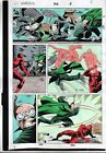 1992 Daredevil 302 page 2 color guide production art: 1990's Owl/Marvel Comics