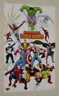 1989 Marvel poster: X-Men/Spider-man/Avengers/Thor/Iron Man/Hulk/Captain America