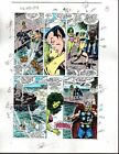 1988 Avengers 291 Marvel color guide art: Thor/Sub-Mariner/Black Knight/She-Hulk