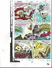 Thor vs Submariner Avengers 292 page 2 Marvel color guide comic art:John Buscema
