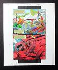 2001 JLA 4 page 32 DC Comics color guide artwork: Martian Manhunter/Aquaman